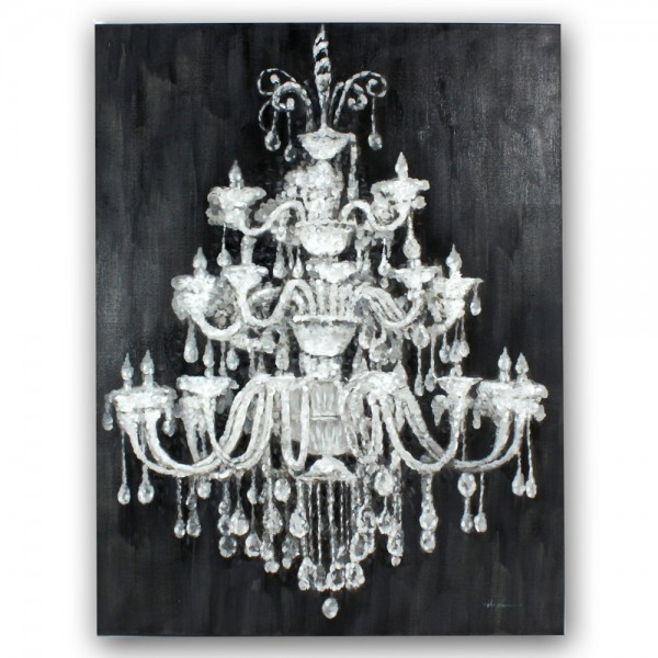 Acryl Bild Leinwand Kronleuchter Handgemalt 90 X 120 Cm Malerei Kunst  Gemälde