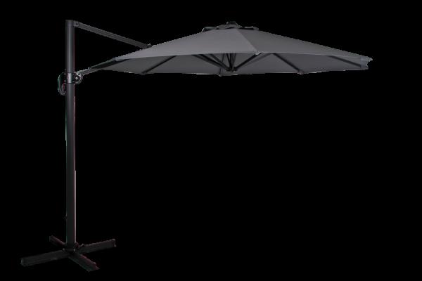 Sonnenschirm Ampelschirm Linz II Ø 300 cm anthazit grau