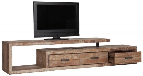 d-Bodhi TV Möbel Soul 225 cm Schubladen rechts recyceltes Teakholz Metall