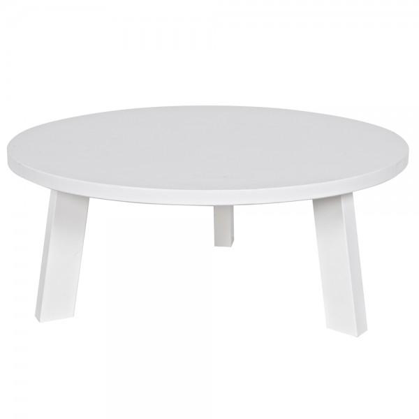 Beistelltisch RHONDA Ø 80 cm Anstelltisch Couchtisch Tisch Sofatisch Kiefer weiß