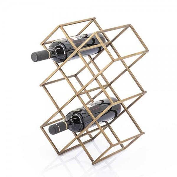 Weinregal Burly klein Metall Messing Flaschen Flaschenständer Flaschenregal