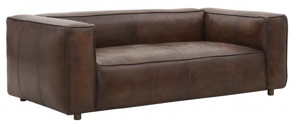 DTP Home 2-Sitzer Leder Lounge Sofa 200 cm Manhattan braun