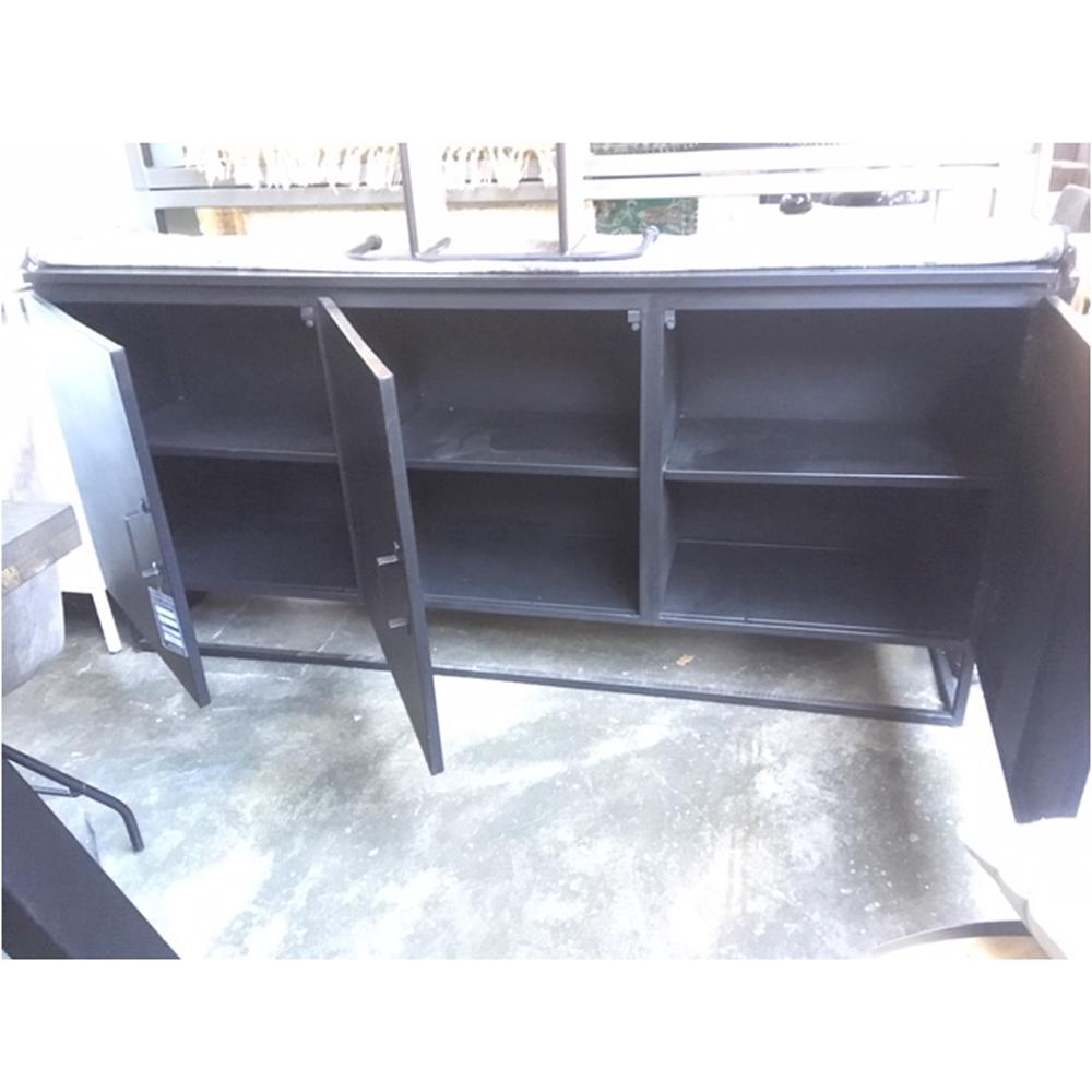 industrie sideboard kommode lois 180 cm konsole schwarz. Black Bedroom Furniture Sets. Home Design Ideas