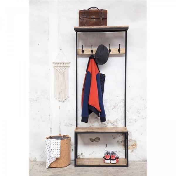 Industrie Garderobe Floyd 180 cm mit Sitzbank