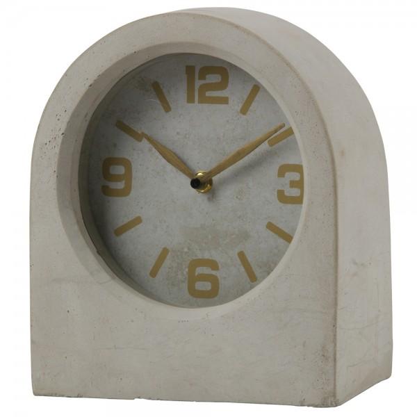 Vintage Uhr TIMELESS Beton grau Tischuhr Batterie Kaminuhr Clock