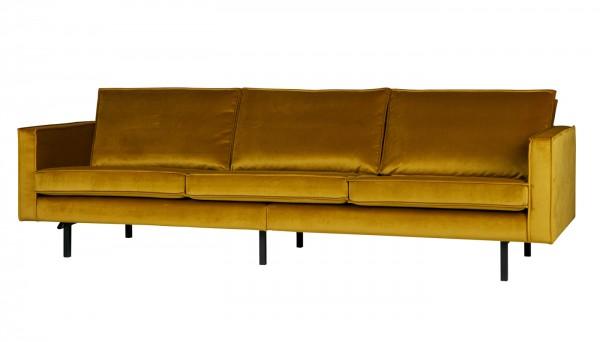 BePureHome 3 Sitzer Sofa Rodeo Samt ocker