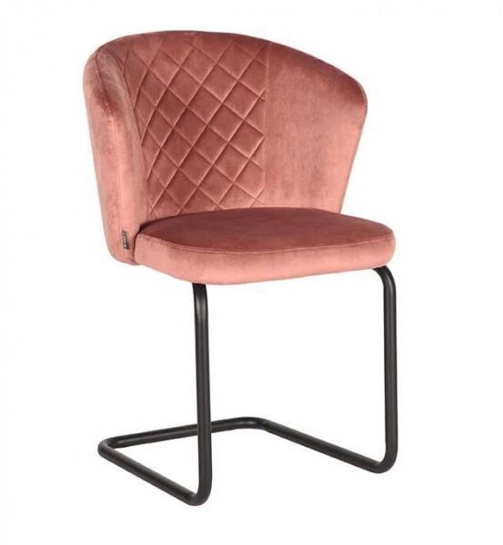 Esszimmer Schwingstuhl FLOW Samt rosa Stuhl