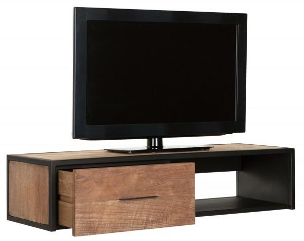 Must Living Hänge TV Möbel Elemental 110 cm Teakholz Metall