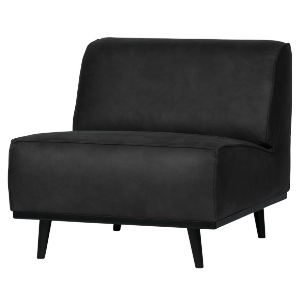 BePureHome Sessel Statement Wildlederimitat Suede schwarz