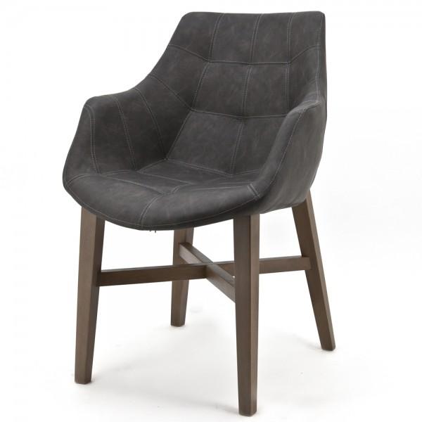 Design Stuhl NEBA anthrazit mit Armlehne