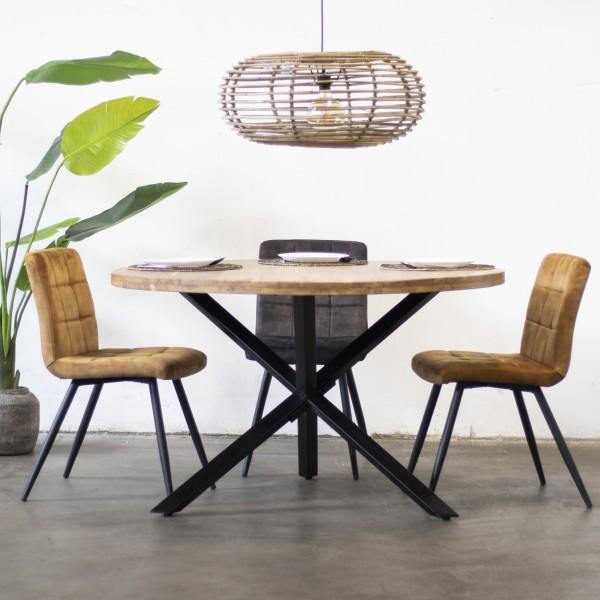 Esstisch rund Mijo Ø 100 cm recyceltes Teak Holz