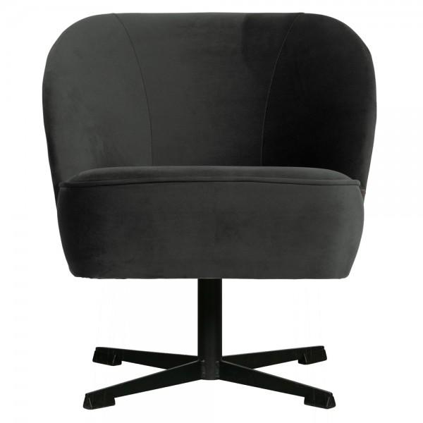 Sessel Vogue Samt schwarz Drehsessel Chair Stuhl Drehstuhl