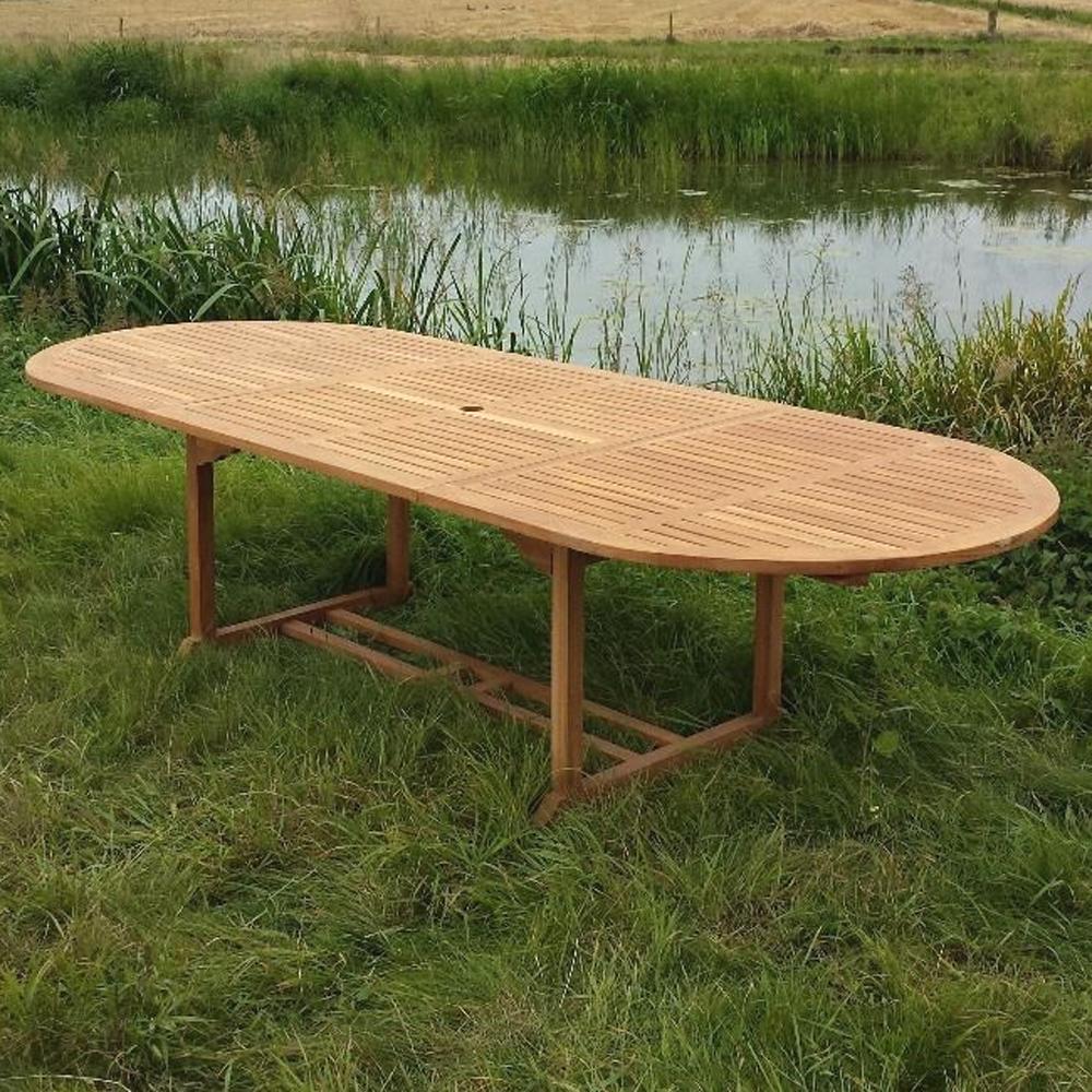 esstisch oval 180 240 cm erweiterbar gartentisch. Black Bedroom Furniture Sets. Home Design Ideas
