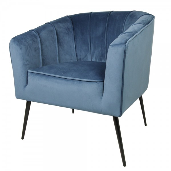 Lounge Sessel Chester stahlblau Samt Velvet Armlehnsessel Fernsehsessel Relaxsessel