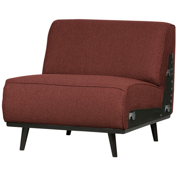 BePureHome 1 Sitzer Sessel Element Erweiterung Statement Bouclé Kastanie