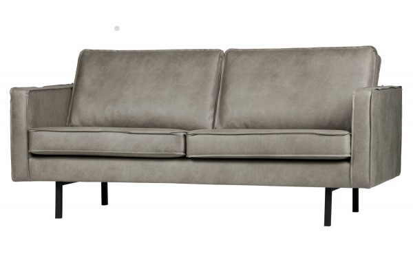 BePureHome 2,5 Sitzer Sofa Rodeo Elefantenhaut grau