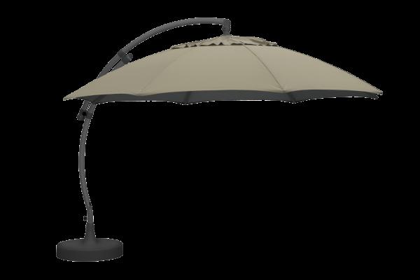 Sonnenschirm Easy Sun Ø 375 cm beige Terrassenschirm Schirm