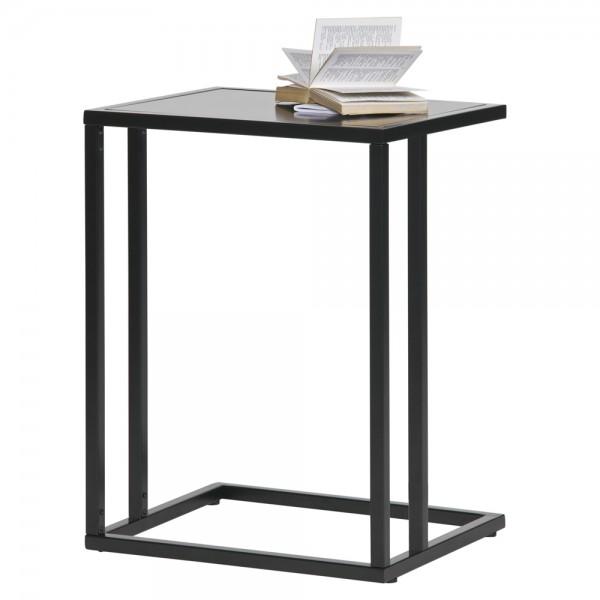 Beistelltische Jasmin U-Form Metall schwarz Sofatisch Anstelltisch Tisch