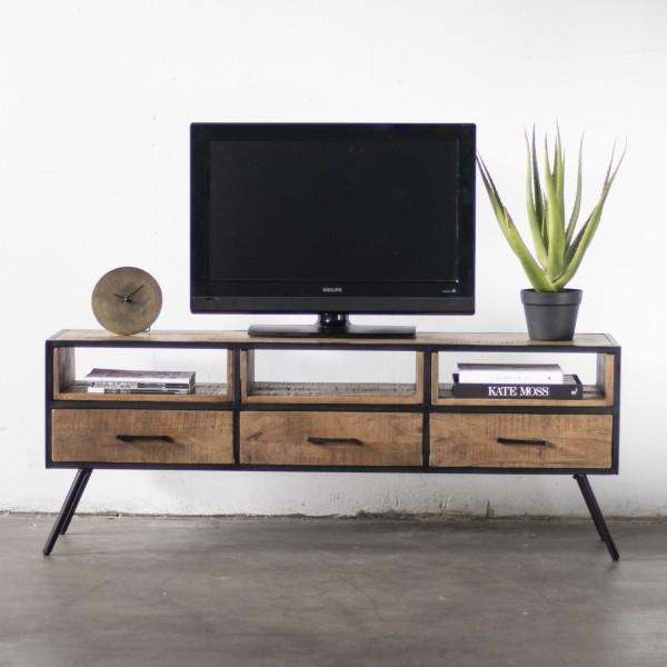 Giga Vintage Retro TV Möbel Mitchel 160 cm Lowboard