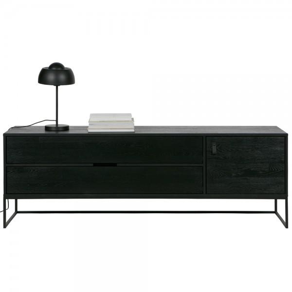 TV Möbel Silas 180 cm Lowboard Board Fernsehtisch schwarz