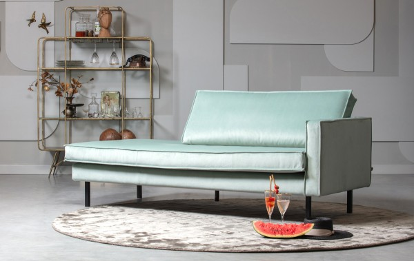 BePureHome Sofa Chaiselongue RODEO Recamiere Samt mint