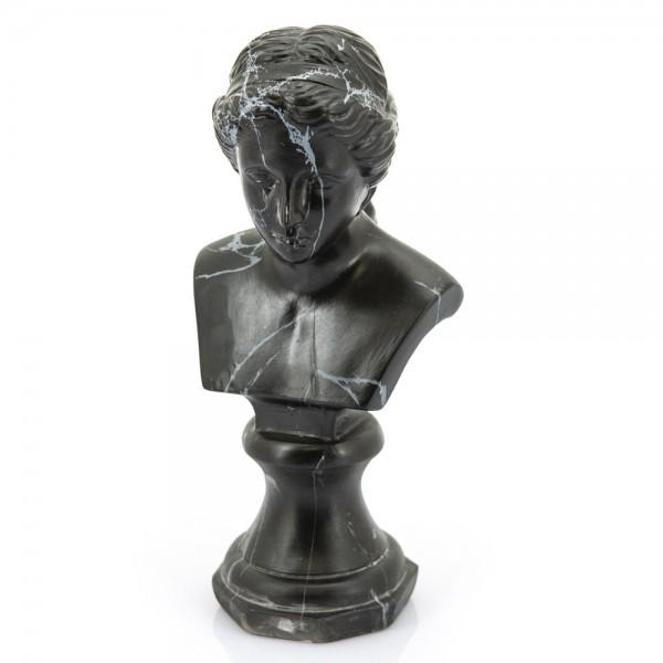 Deko Skulptur Eve schwarz marmoriert Tischdeko Standfigur Figur Statue Büste