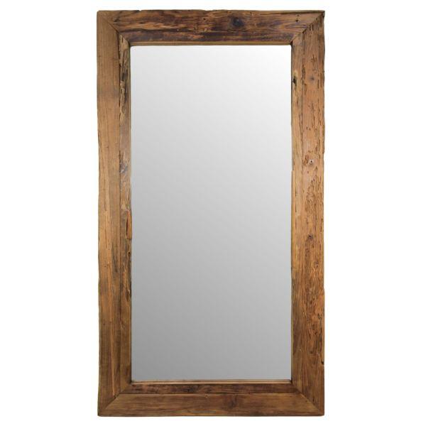 Wandspiegel Rustikal 200 x 100 cm Spiegel Teak natur Treibholz