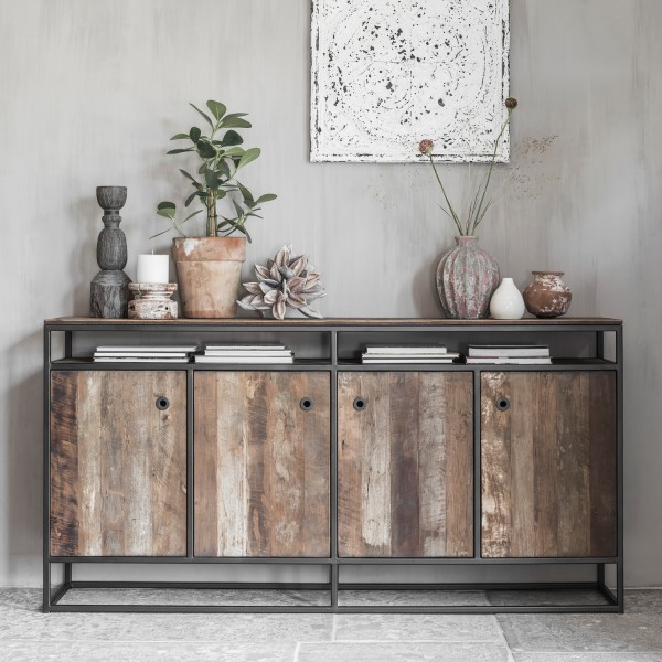 d-Bodhi Sideboard Tuareg 178 cm recyceltes Holz Metall Schrank