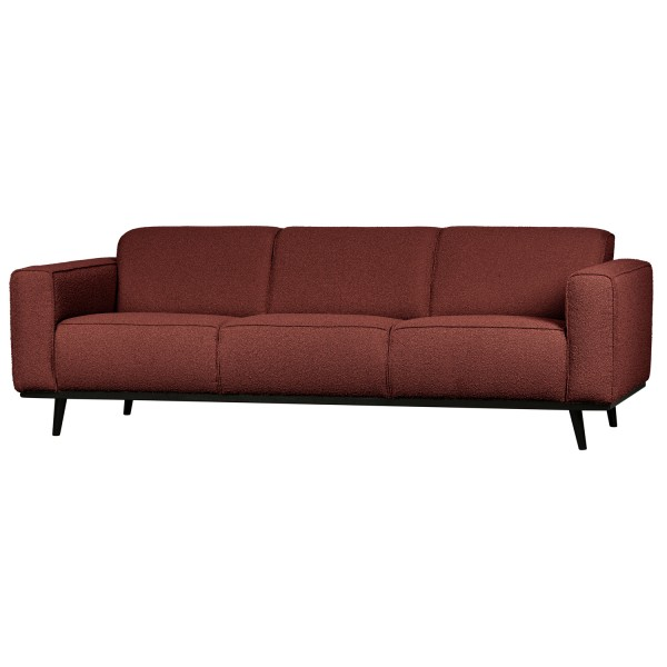 BePureHome 3 Sitzer Sofa STATEMENT Bouclé Kastanie Couch Garnitur Couchgarnitur