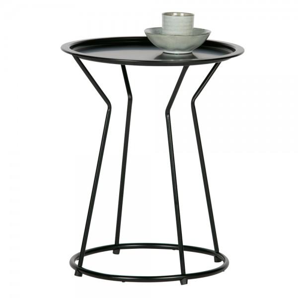 Beistelltisch Yana Ø 41 Metall schwarz Anstelltisch Couchtisch Tisch Sofatisch Kaffeetisch