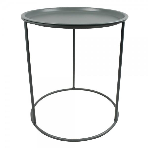 Beistelltisch IVAR rund Ø 40 Tisch Kaffeetisch Serviertisch Metall jadegrün