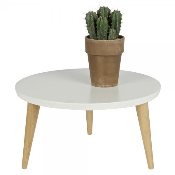 Beistelltisch Couchtisch ELIN Ø 50 cm Tisch Kaffeetisch Anstelltisch Massivholz