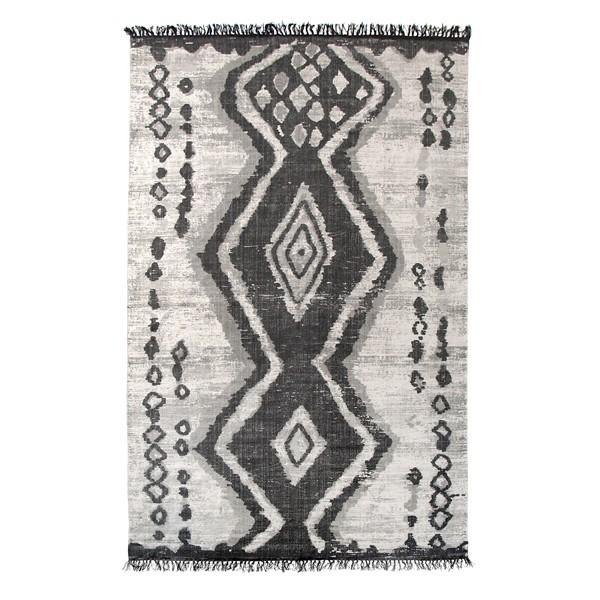 Baumwollteppich Teppich 180 x 280 cm stonewashed