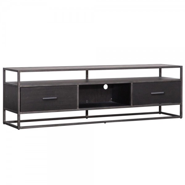 TV Möbel Lowboard Hudson 185 cm Akazie schwarz