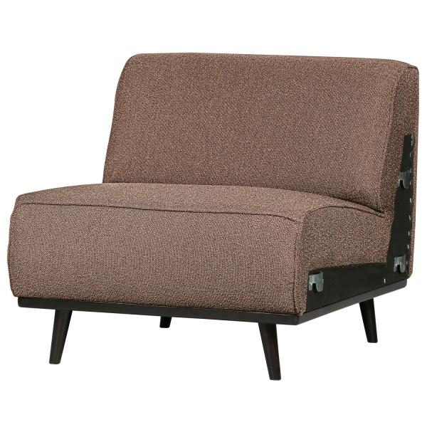 BePureHome 1 Sitzer Sessel Element Erweiterung Statement Bouclé nougat
