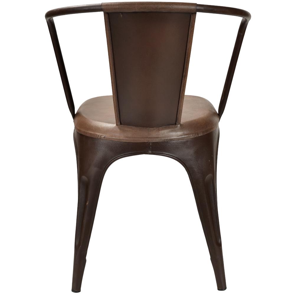 Rost Metall 4er Stuhl Design Set Braun Living Industrie Esstischstuhl Esszimmerstuhl Leder iOkXwPZuT