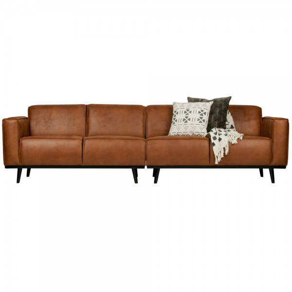 4 Sitzer Sofa STATEMENT Leder cognac Couch Garnitur Ledercouch Couchgarnitur