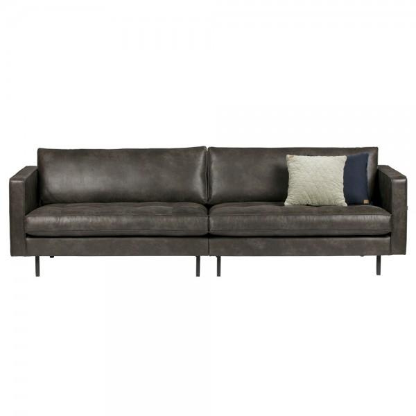 3 Sitzer Sofa RODEO CLASSIC Echtleder Leder Lounge Couch Ledersofa schwarz