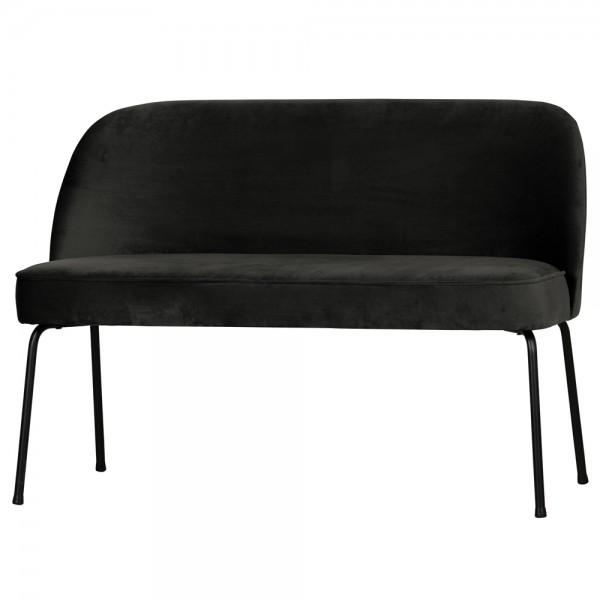 Esszimmerbank Vogue 120 cm Samt schwarz
