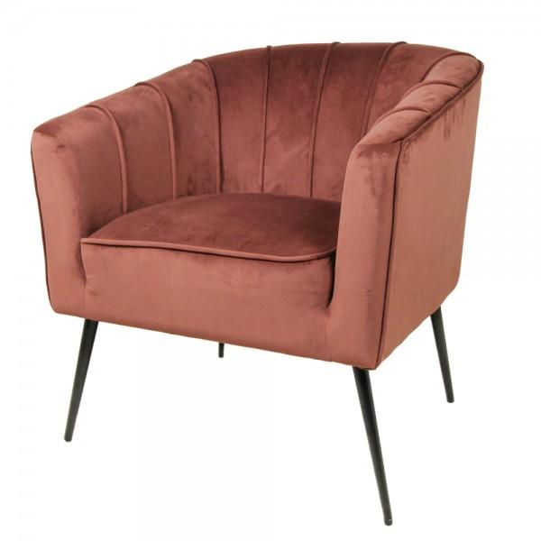 Lounge Sessel Chester champagner Samt Velvet Armlehnsessel Fernsehsessel Relaxsessel