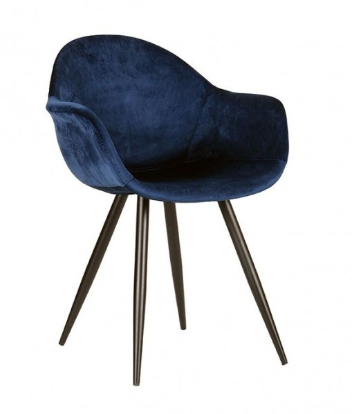 Schalenstuhl Forli Samt blau Stuhl