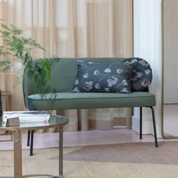 Esstischbank Bank Vogue 120 cm Samt Onyx