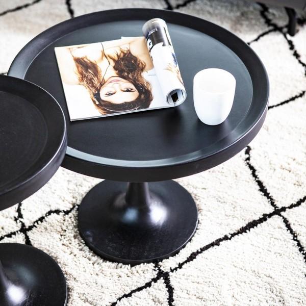 Beistelltisch Totum Ø 40 cm Anstelltisch Sofatisch Tisch Stehtisch Mango schwarz