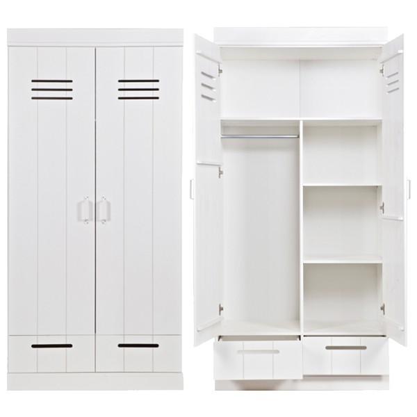 Kleiderschrank System CONNECT LOCKER Kiefer 2 Türen + Schubladen