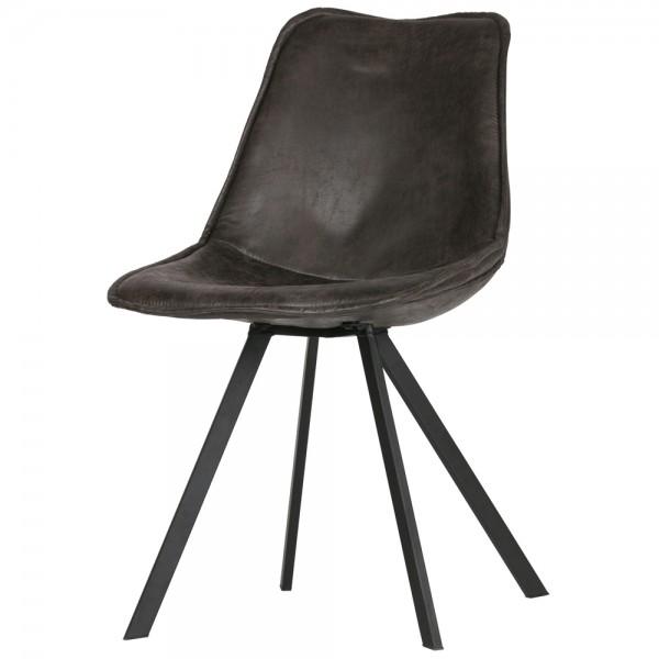 2er Set Esszimmerstuhl Swen schwarz Stuhl