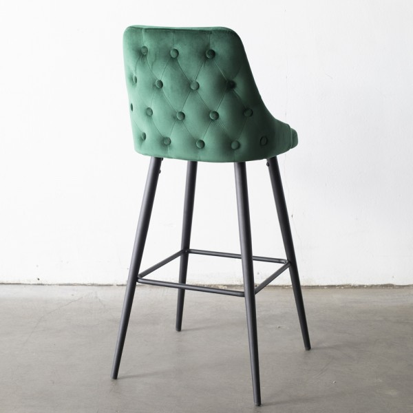 Barhocker Amber Samt grün Sitzhöhe 75 cm