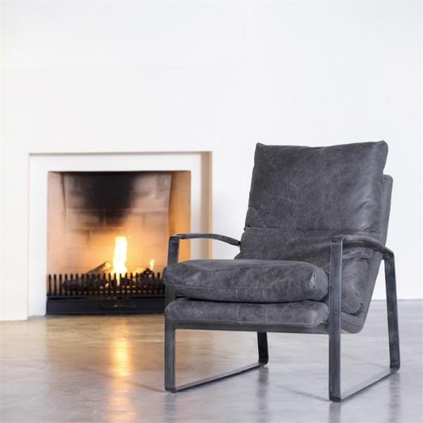 Lounge Sessel LEX Leder anthrazit Fernsehsessel