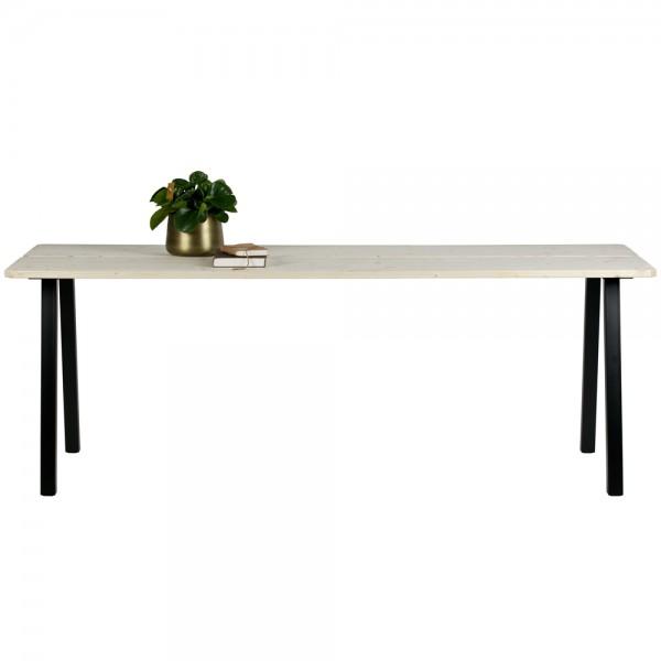 Esstisch TRIOMF 210 x 77 cm Holz Metall Dinnertisch Tisch Esszimmertisch Natur