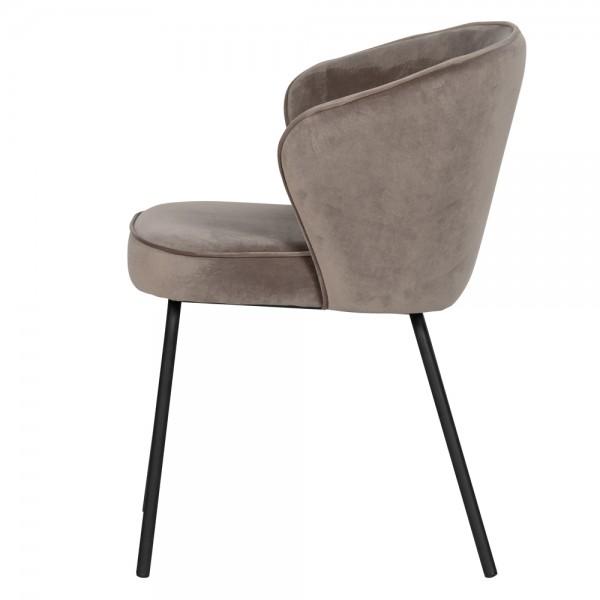 BePure 2er Set Stuhl mit Armlehnen Admin Samt Khaki