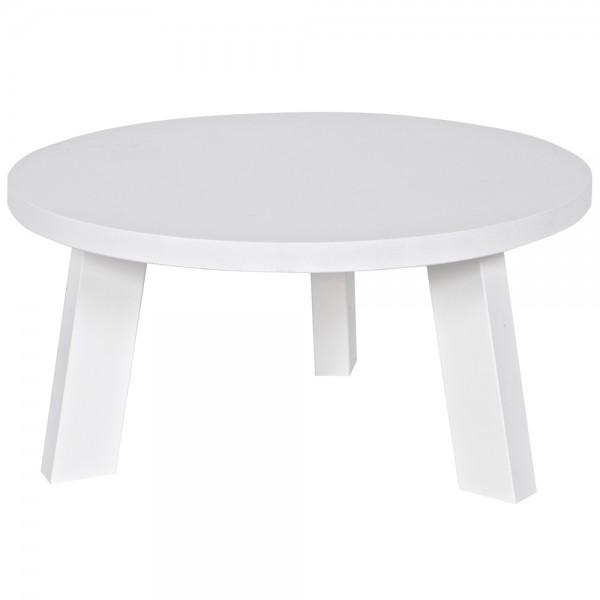 Beistelltisch RHONDA Ø 60 cm Anstelltisch Couchtisch Tisch Sofatisch Kiefer weiß